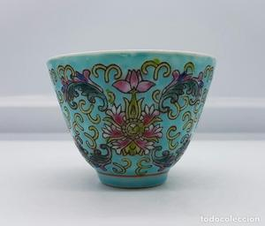 Cuenco o pocillo antiguo en porcelana China (Zhongguo