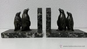 Figuras Art Decó sujetalibros.