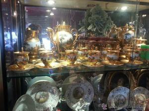 Juego de cafe en porcelana francesa de Viejo París