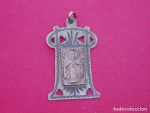 Medalla Antigua en Plata de San Honorato Patrono de los