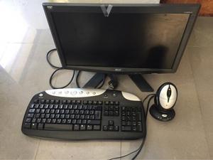 Monitor PC, Teclado y Ratón