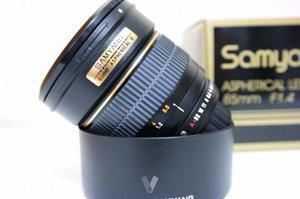 Objetivo Samyang 85mm f/1.4 montura Pentax