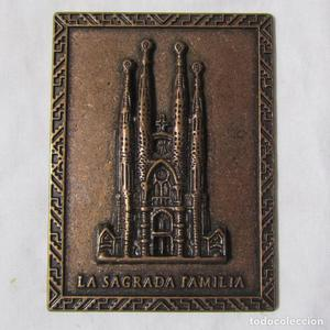 Placa de bronce de La Sagrada Familia Barcelona
