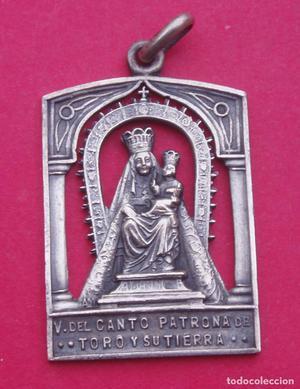 Preciosa Medalla Antigua Virgen del Canto Patrona de Toro.