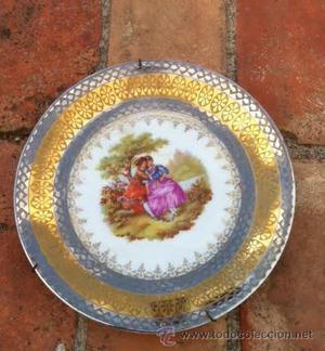Precioso plato antiguo porcelana C P. Limoges