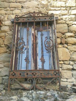Antigua puerta o reja forja motivo floral posot class - Rejas de forja antiguas ...
