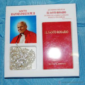 Santo rosario bendecido por Juan Pablo II.