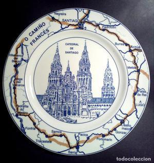 XACOBEO 99 PLATO DE CERÁMICA PONTESA. 26 cms.