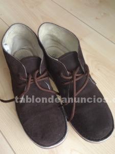 Zapatos niño de gocco en piel, en chocolate.