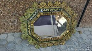 espejo antiguo en madera