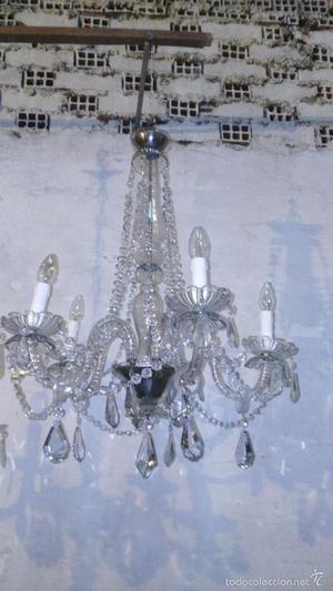 lampara antigua de cristal