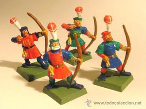 4 Arqueros del Imperio de WARHAMMER (Pintados)