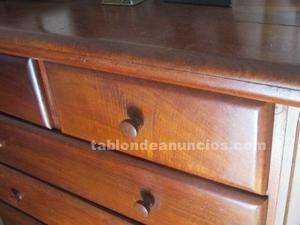 Conjunto de dormitorio de madera noble maciza