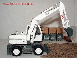 Excavadora Liebherr 314 Litronic Blanca NZG Escala 1:50