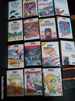 Lote 17 juegos de Master System Sega shinoby,predador,