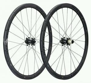 Ruedas bicicleta carretera carbono para disco