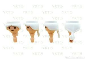 YRTS Playmobil  Lote 4 Cabezas Pelo Blanco con Coleta