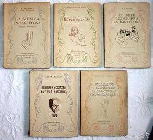COLECCIÓN 5 LIBROS LIBRERÍA DALMAU. NOTICIAS HISTÓRICAS