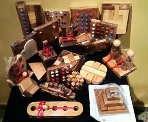 Colección 22 juegos lógica en madera