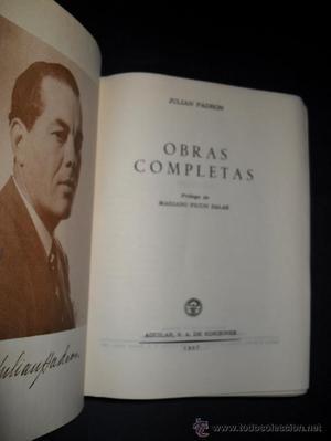 Eternas, Obras Completas de Julián Padrón, Aguilar