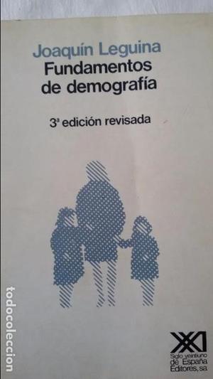 Fundamentos de Demografía. Joaquín Leguina