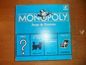 Juego Antiguo Monopoly Borras Azul