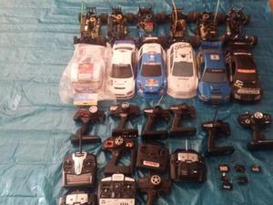 Lote de coches 1/10 + carrocerias + mandos....