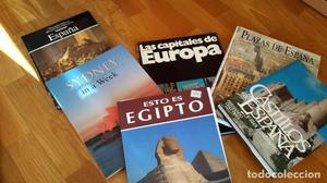 Lote de varios libros sobre ciudades, plazas y castillos