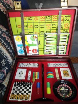 Maletín de juegos de mesa