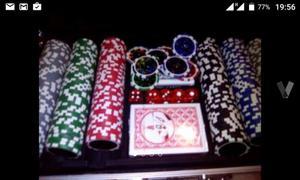 Maletín metálico de póker