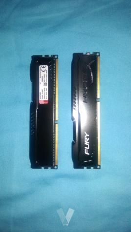 Memoria RAM Kingston HyperX FURY 2 x 4 GB, Mhz