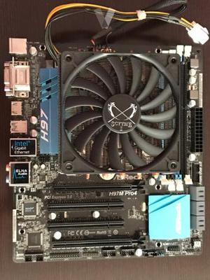 Placa base ASRock H97M Pro4. CPU i