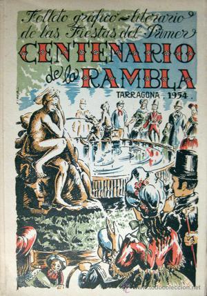 TARRAGONA. CENTENARIO DE LA RAMBLA. FOLLETO