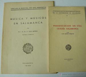 TRES LIBROS DE SALAMANCA MÚSICA Y MUSICOS EN SALAMANCA LA