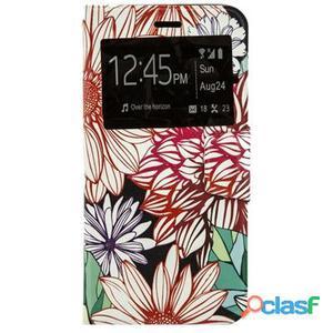 X-One Funda Libro iPhone 6 Plus Flores Colores