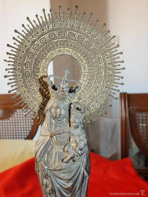ANTIGUA VIRGEN DEL PILAR EN METAL
