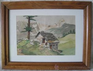 Acuarela, paisaje segunda mitad del siglo XX