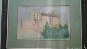 Acuarela sin firma Alcázar de Segovia