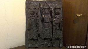 Antigua placa en bronce de Benín