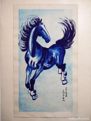 Año  --- Caballo azul ---- interesante obra firmada