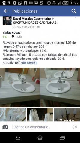 Encimera de mármol con lavabo integrado