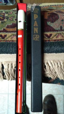 Flauta de música sin usar.