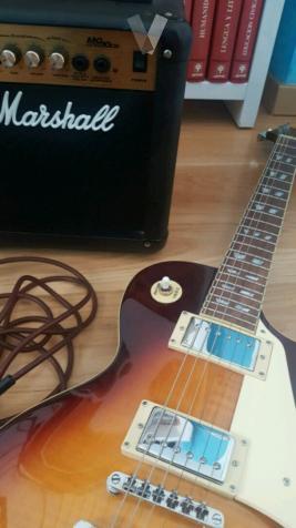 Guitarra eléctrica + amplificador Marshall