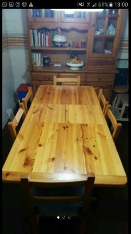 Juego de mesa de cocina + sillas + aparador