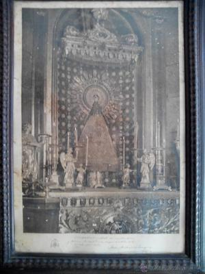 Litografia virgen del pilar firmada por el arzobispo