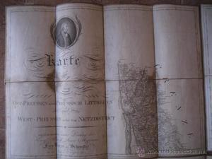 MAPA 4 CARTAS DE PRUSIA RETRATO GUILLERMO III KARTE VON OST
