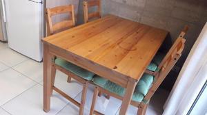 Mesa comedor 4 sillas 4 cojines a madrid posot class - Cojines sillas cocina ...