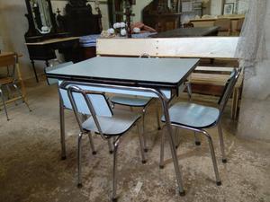 Conjunto mesa y sillas cocina vintage posot class - Sillas de cocina de segunda mano ...