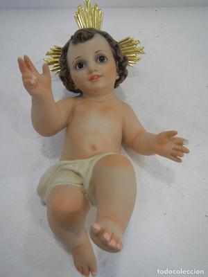 NIÑO JESUS 35 CMS ESTUCO CON OJOS DE CRISTAL (VER FOTOS)