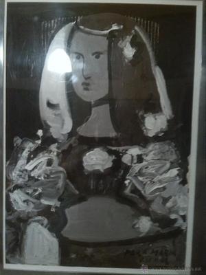 Obra del pintor Jose Diaz tecnica mixta